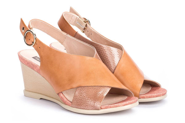 Pikolinos Vigo Apricot Wedge Shoes  W3R - 1645