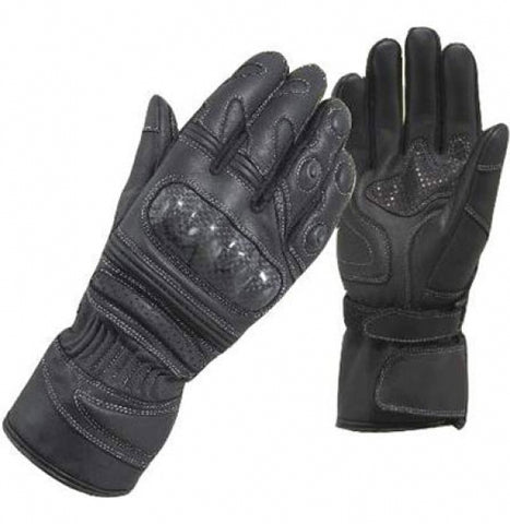 Diapo Leather Calfskin Motorcycle Gloves