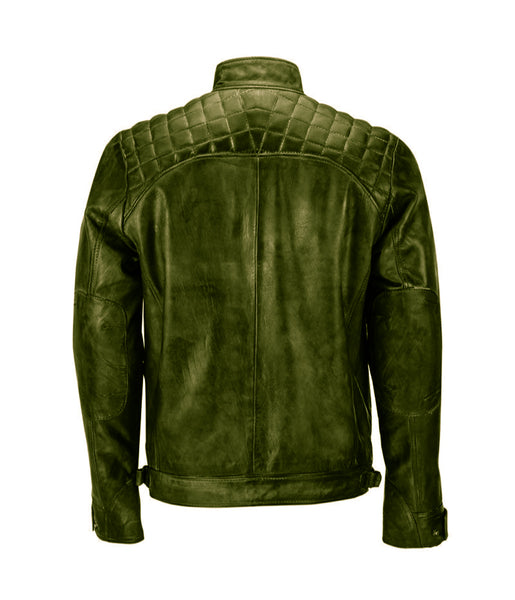 Diapo Leather Men's Vegetable Tanned Leather Jacket  DL - MLJ1091