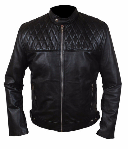 Diapo Leather Men's Black Cowhide Leather Jacket  DL - MLJ1093