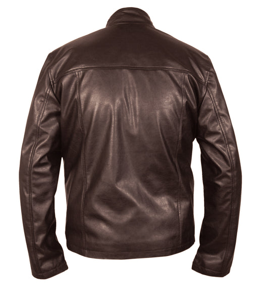 Diapo Leather Men's Black Cowhide Leather Jacket DL - MLJ1136