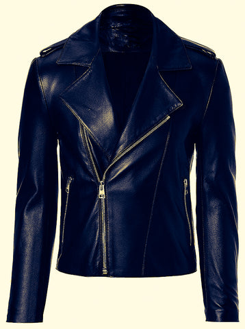 Diapo Leather Men's / Women's Cowhide Leather Jacket  DL - MLJ1137
