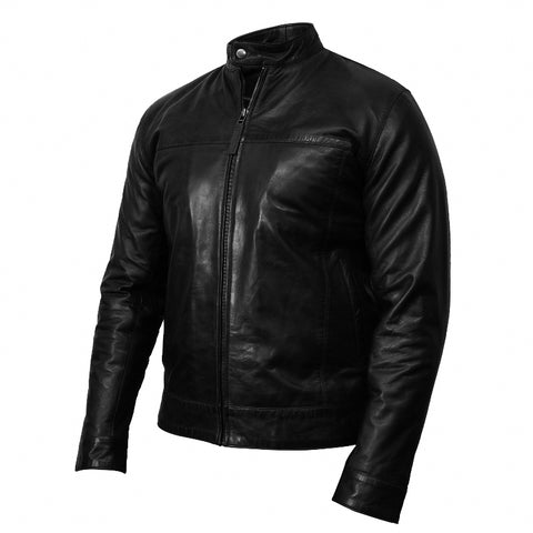 Diapo Leather Men's Vegetable Tanned Leather Jacket   DL - MLJ1140