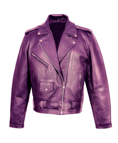 Diapo Leather Women's Vegetable Tanned Leather Jacket DL- WLJ1154
