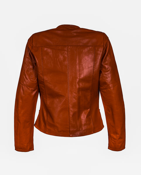 Diapo Leather Women's Vegetable Tanned Leather Jacket  WLJ1161