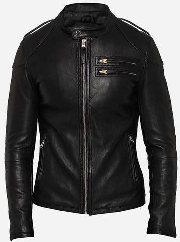 Diapo Leather Men's Motorcycle Cowhide Leather Jacket  DL-MMLJ2071