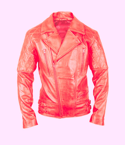 Diapo Leather Women's Cowhide Moto Leather Jacket WMLJ2074