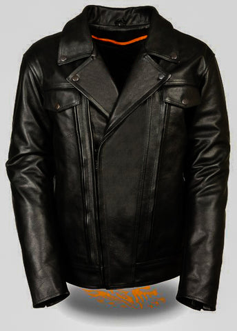 Diapo Leather Men's Cowhide Motorcycle Leather Jacket DL- MMLJ2077