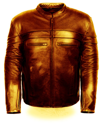 Diapo Leather Men's Cowhide Motorcycle Leather Jacket  DL- MMLJ2078
