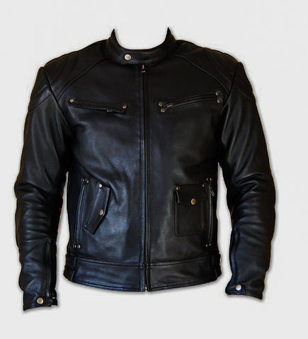 Diapo Leather Men's Motorcycle Cowhide Leather Jacket DL - MMLJ2079