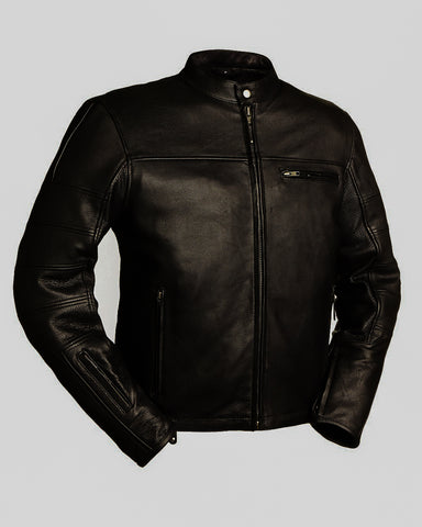 Diapo Leather Moto Cowhide Leather Jacket   DL - MMLJ2076
