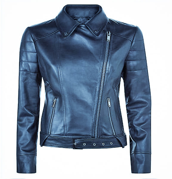 Diapo Leather Women's Black Cowhide Leather Jacket     DL -  WLJ1191