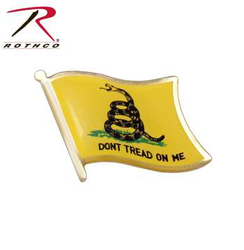 Don't Tread On Me Flag Lapel Pin