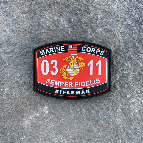 0311 Rifleman PVC MOS Patch
