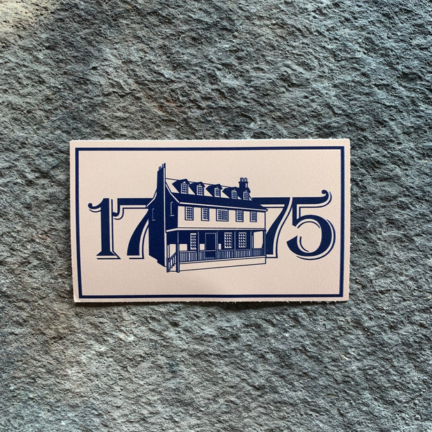 1775 Tun Tavern Rectangle Vinyl Decal