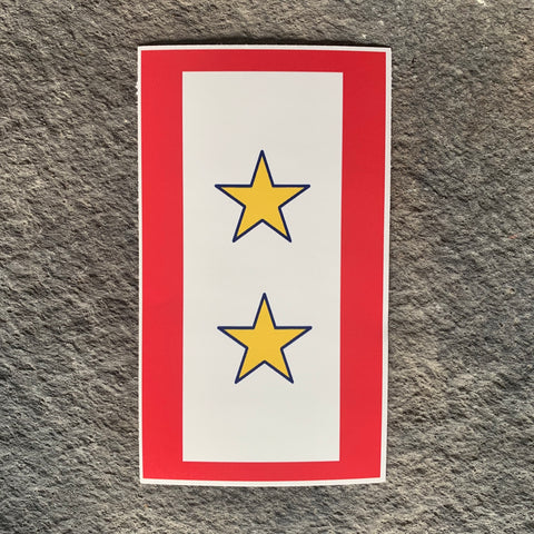 Ryan Weaver Heroes Collection:  Gold Star Flag Decal by PatchOps