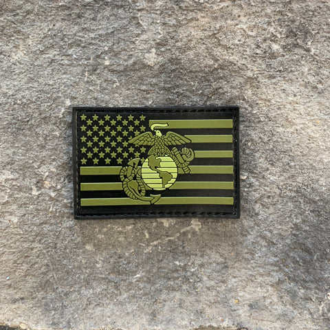 NEW!   American Flag/USMC Subdued