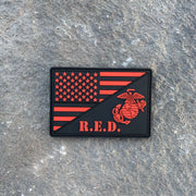 NEW!   USMC R.E.D. Flag  PVC Morale Patch