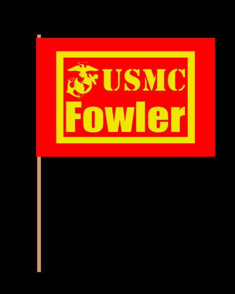 (2) Customizable Boot Camp Flags