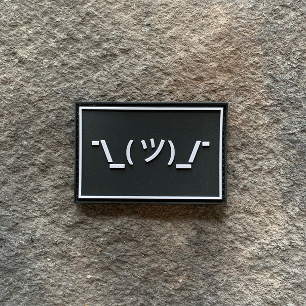 Shrug Emoji PVC Patch