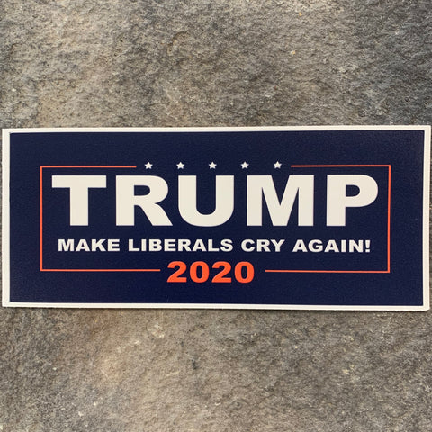 NEW!   Make Liberals Cry Again Vinyl Bumper Sticker
