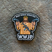 WWJP- What would Jesus Pew PVC Patch