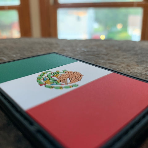 Mexican Flag PVC Patch