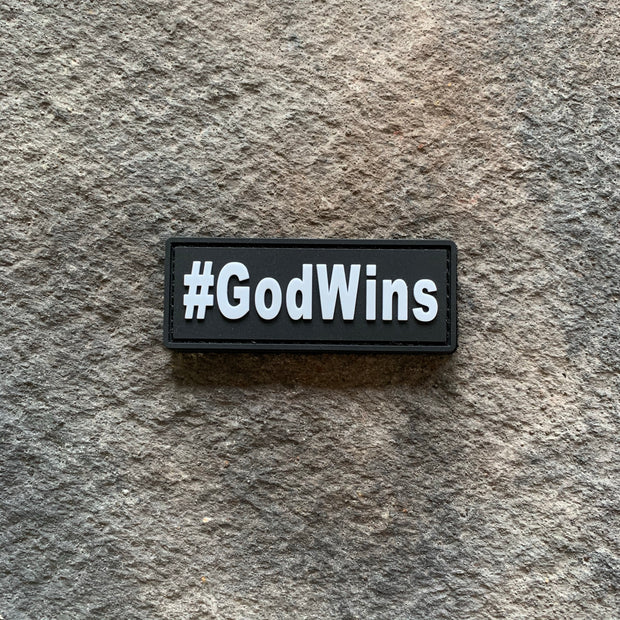 #GodWins  Glow in the Dark PVC Patch