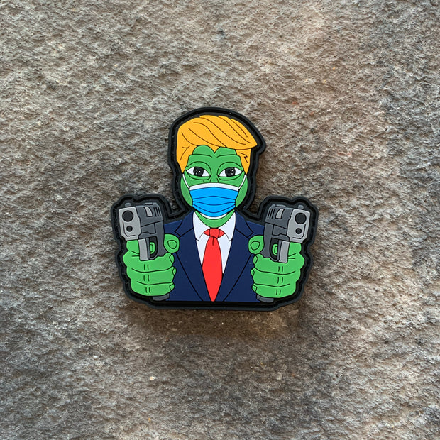 Quarantine Pew-Pe Frog PVC Patch