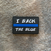 I Back the Blue PVC Patch