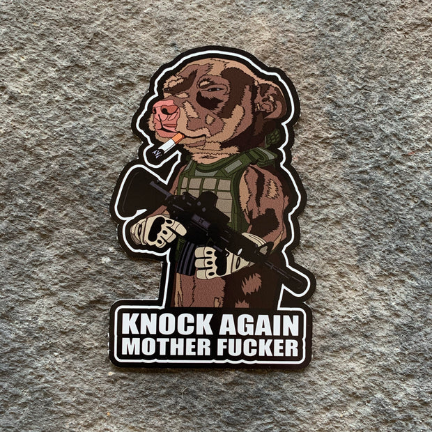 Knock Again Mother Fucker Vinyl Decal