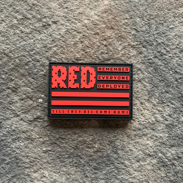 Ryan Weaver Heroes Collection- Remember Everyone Deployed PVC Patch-  Red/Black