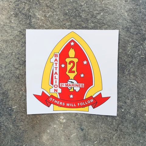 1/2 Marines vinyl matte kiss cut sticker