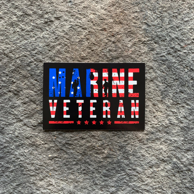 Marine Veteran Flag Vinyl Decal