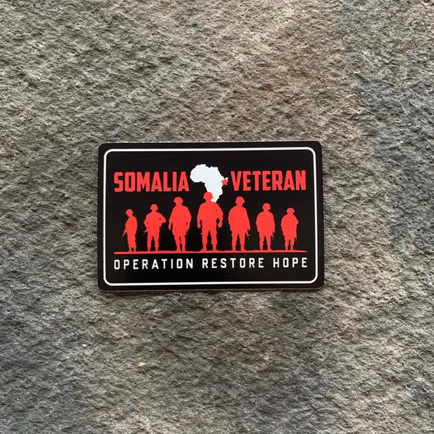 Somalia Veteran- Operation Restore Hope Vinyl Decals