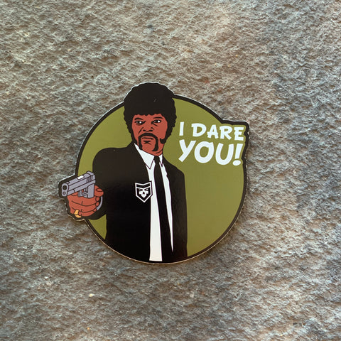 Pulp Fiction:   I dare you! Vinyl Decal