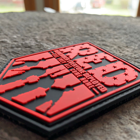 Remember Everyone Deployed PVC Patch-  Red/Black Shield