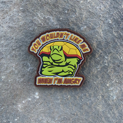 3D Angry Turtle Patch by RJ!  PVC Morale Patch.