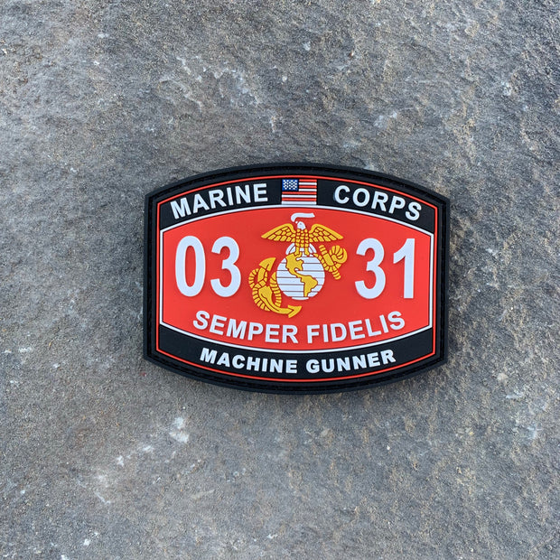 0331 Machine Gunner PVC MOS Patch