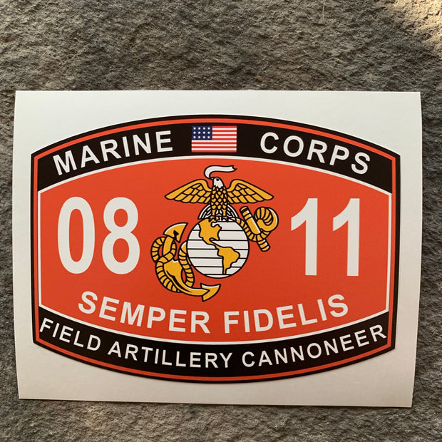 0811 Field Artillery Cannoneer Fathead style decal