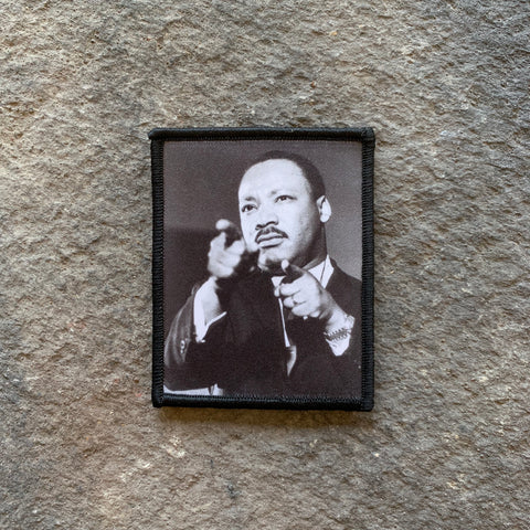 BADASS AMERICAN SERIES: Dr Martin Luther King Jr digital print memorial patch 2
