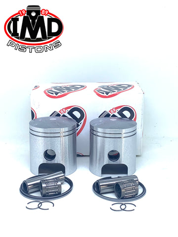 Yamaha YR5 R5 350 Piston Kits (2) & Piston Bearings (2)