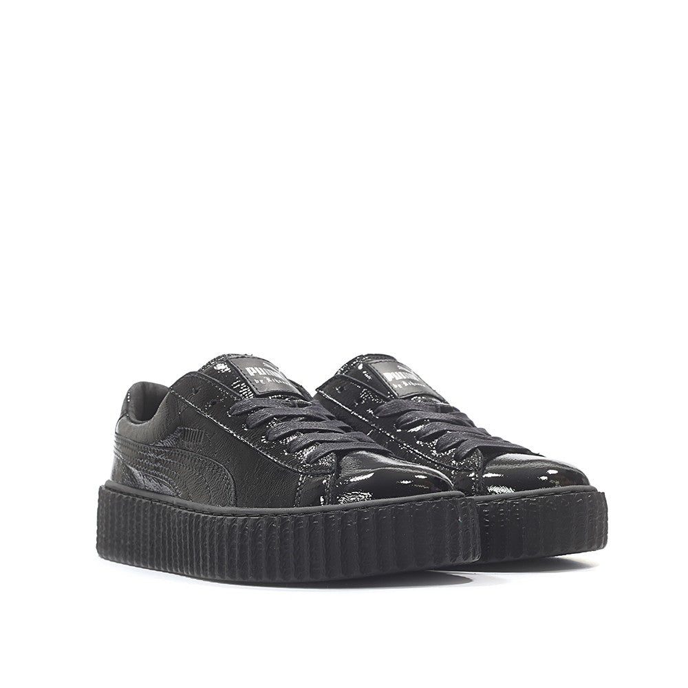outlet store e181d 8a131 Rihanna X Puma Fenty Creeper Cracked Leather 'Black'ᅠ