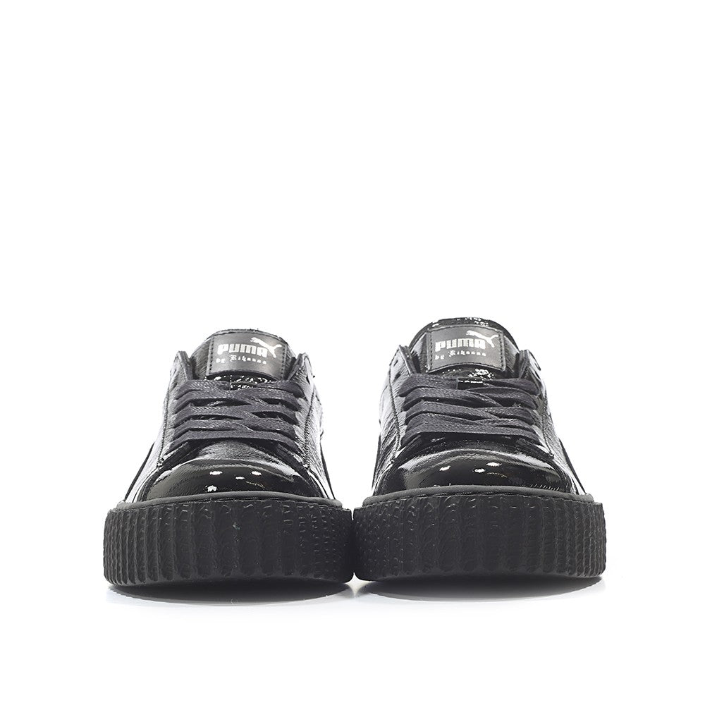 outlet store 43fdc ed07b Rihanna X Puma Fenty Creeper Cracked Leather 'Black'ᅠ