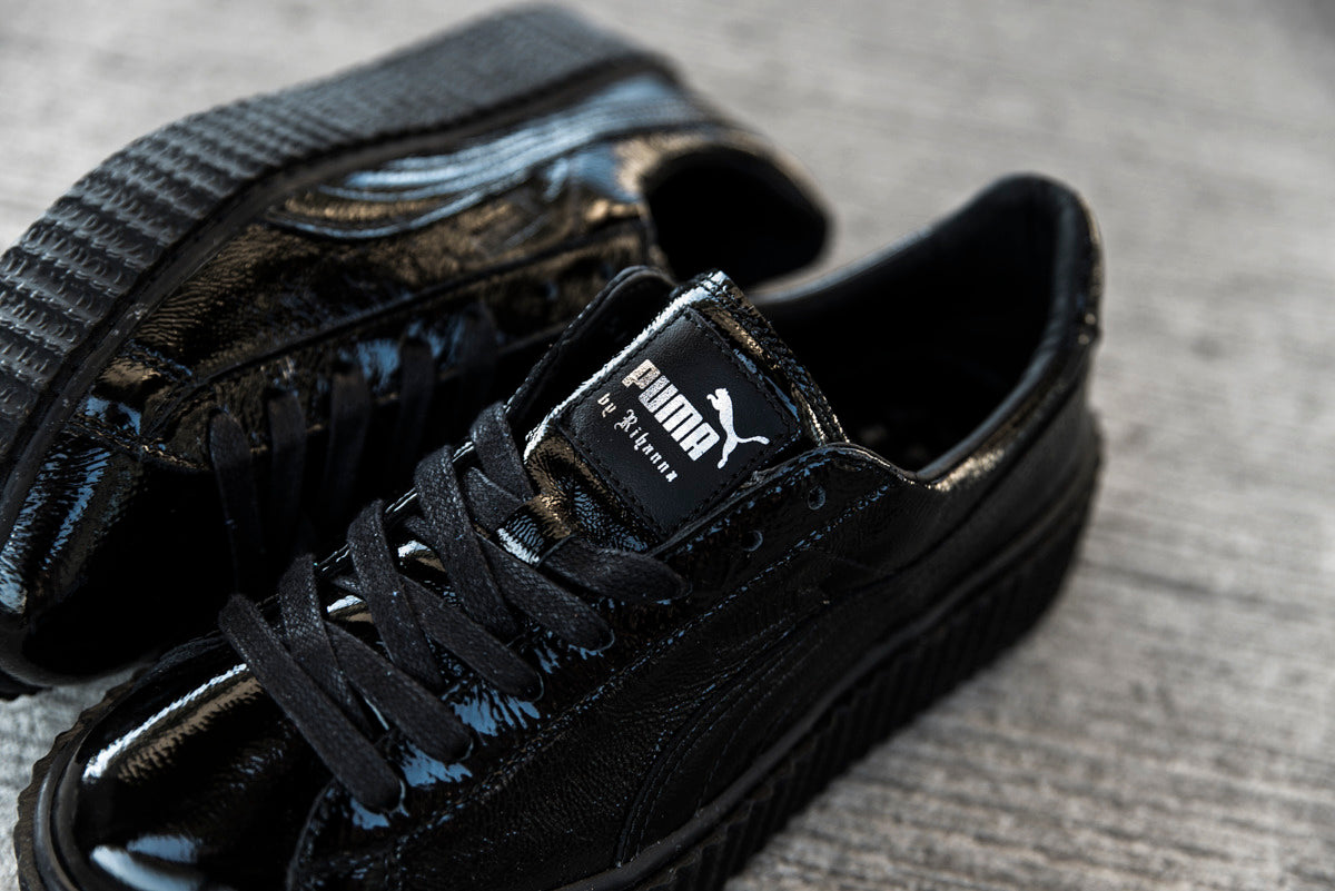 sports shoes 62dd9 92598 Rihanna X Puma Fenty Creeper Cracked Leather 'Black'ᅠ – CREP LDN
