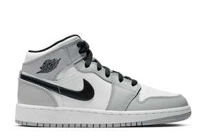 Nike Air Jordan 1 Mid GS 'Light Smoke Grey'