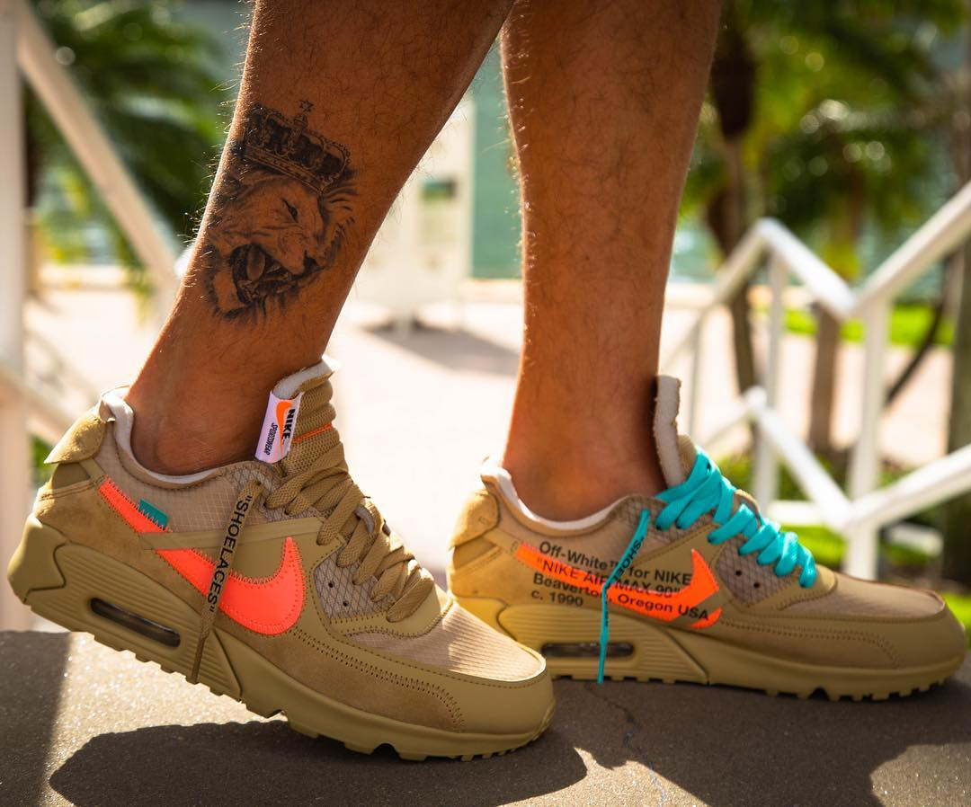 Off-White X Nike Air Max 90 'Desert Ore'