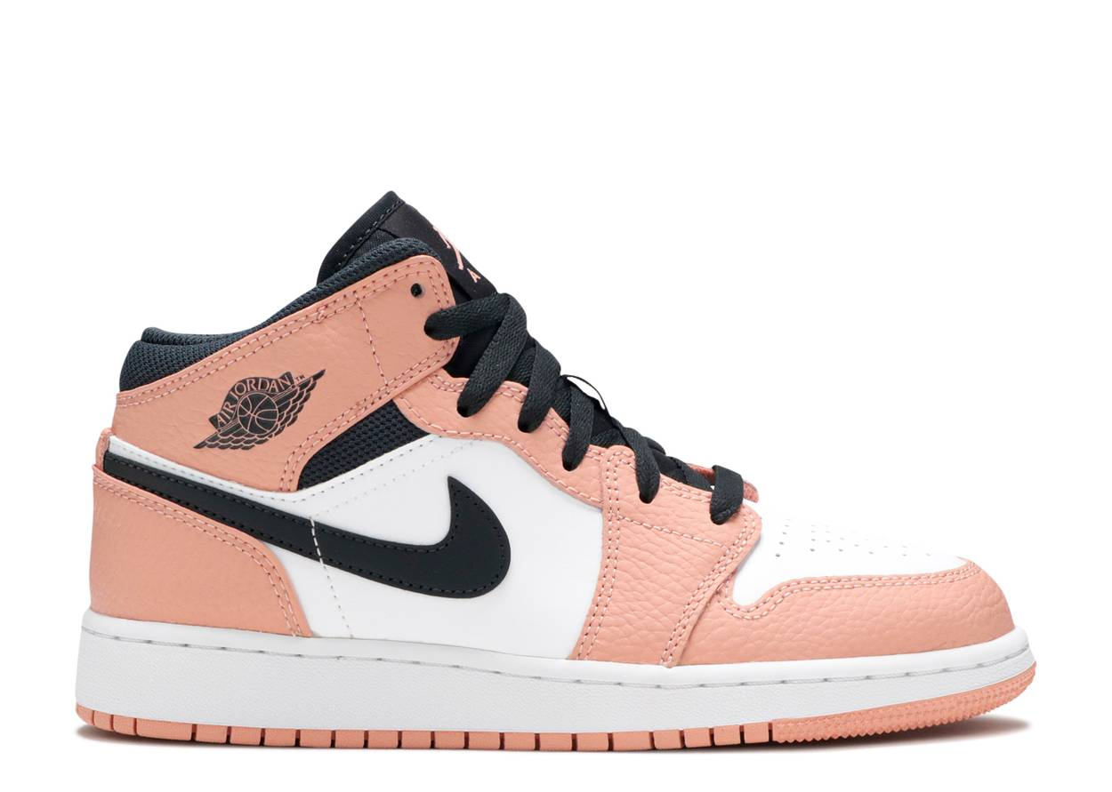 Nike Air Jordan 1 Mid GS 'Pink Quartz'