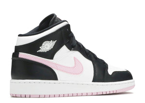 Nike Air Jordan 1 Mid GS 'White Black Light Arctic Pink'