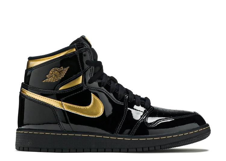 Nike Air Jordan 1 Retro High Black Metallic Gold 2020 (GS)
